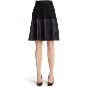 CABI | Black Faux Leather Skirt Size Medium